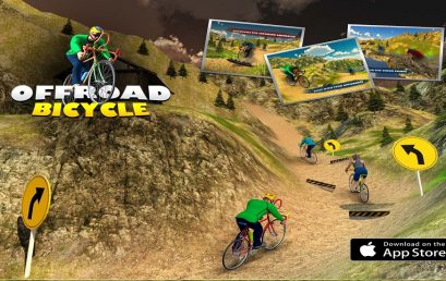 Offroad Mountain Bicycle Climbing